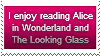 Alice in Wonderland and The Looking Glass Stamp by LegendaryWriter