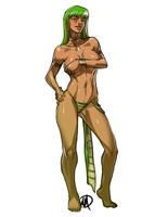 League of Legends: Cassiopeia Pre-transformation by Ganassa