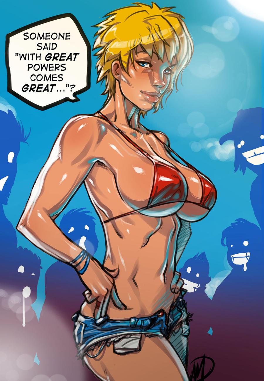 Power Girl's GREAT responsibilities by Ganassa