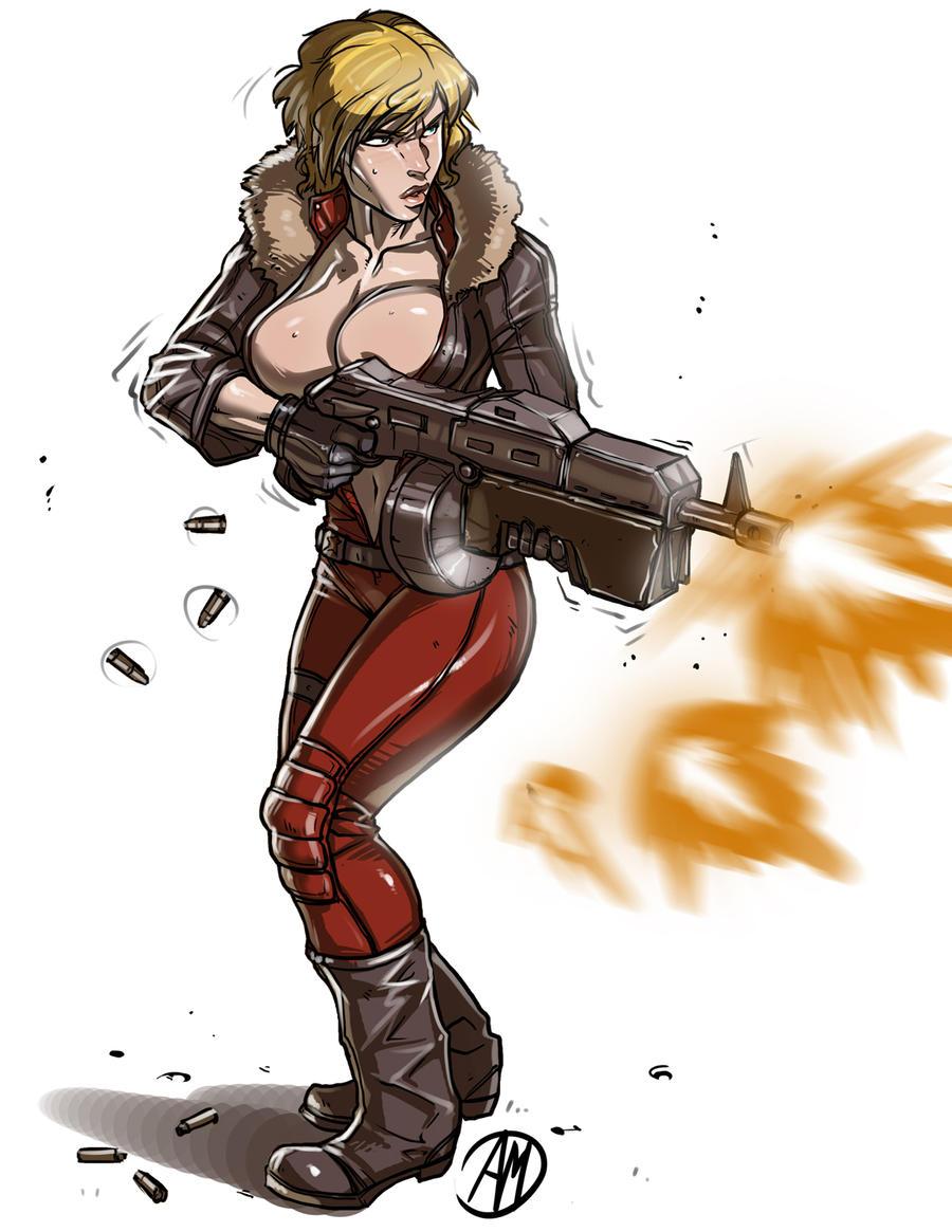 Don't mess with Sergent Anastasiya! by Ganassa