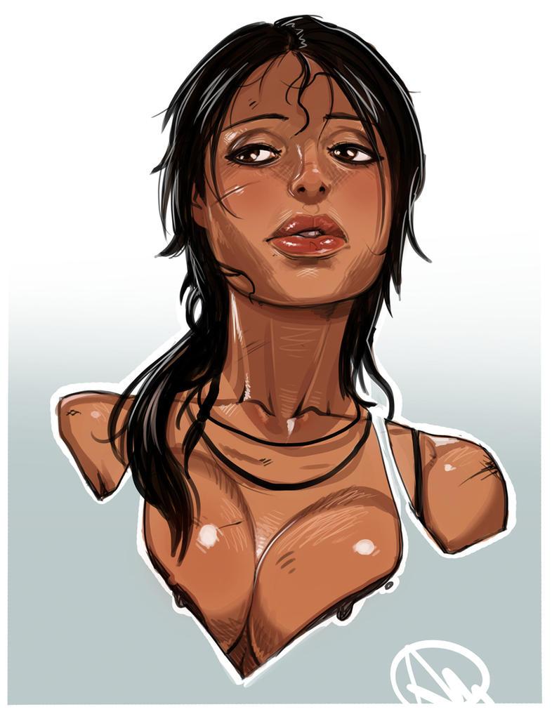 Tomb Raider Lara Croft's portrait by Ganassa