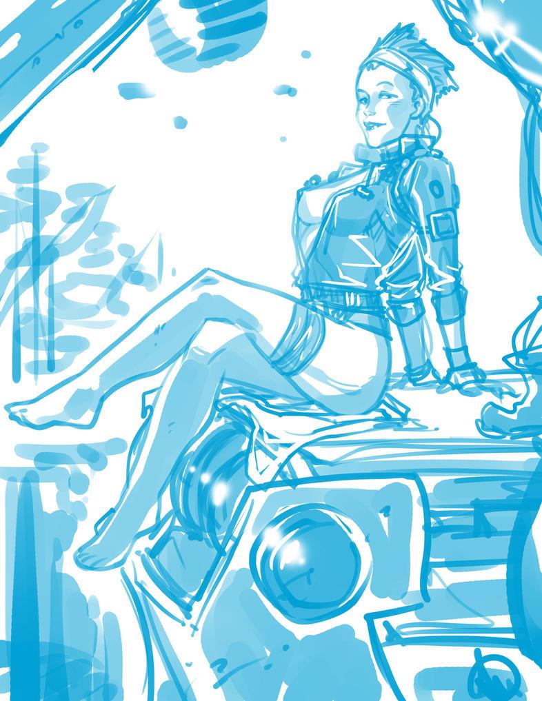 Titanfall Sarah - Sketch by Ganassa