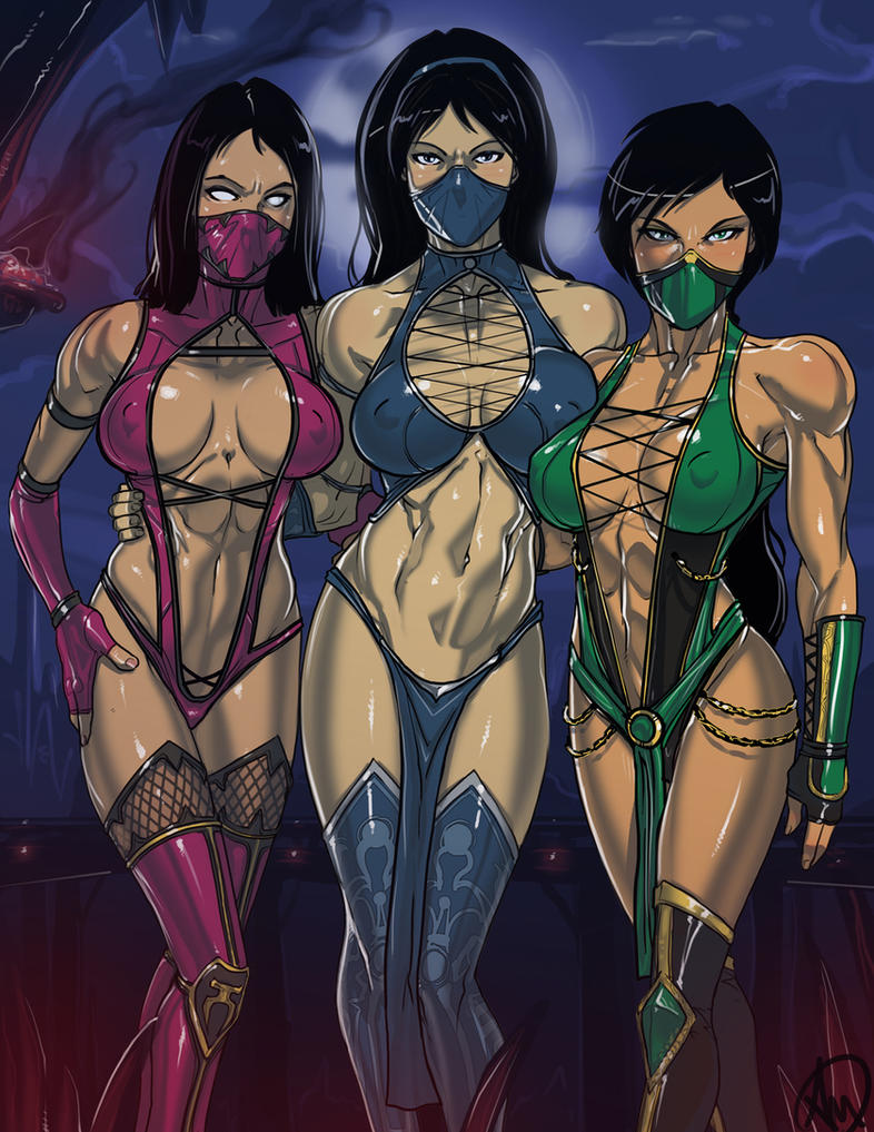 Kitana, Mileena and Jade by Ganassa