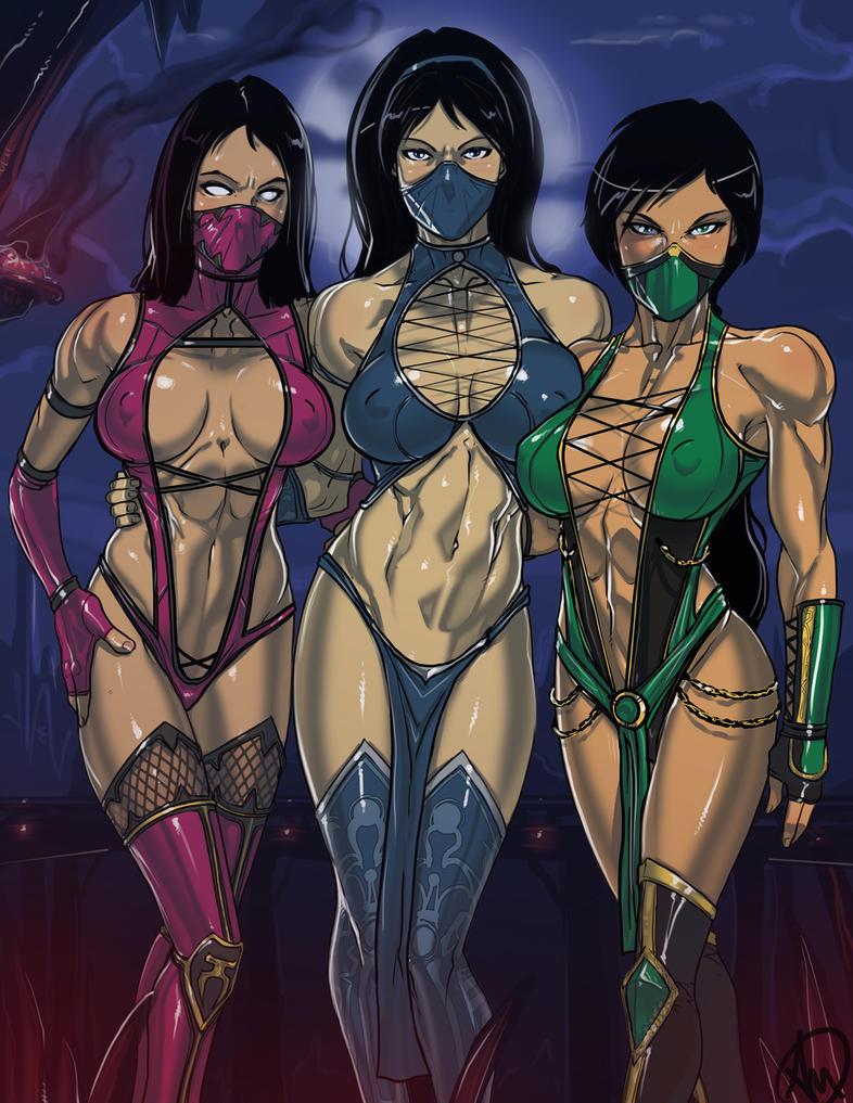 Kitana, Mileena and Jade by Ganassa