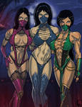 Kitana, Mileena and Jade
