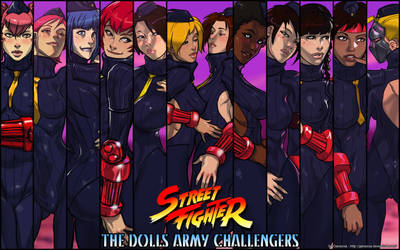 Street Fighter - Dolls Army Challengers wallpaper