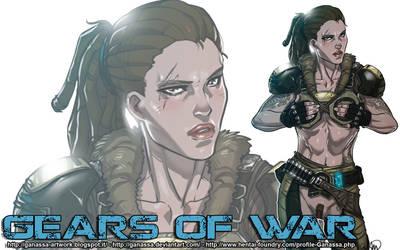 Gears of War: Bernadette 'Bernie' Mataki Wallpaper by Ganassa