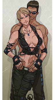 Sonya Blade and Johnny Cage - SFW