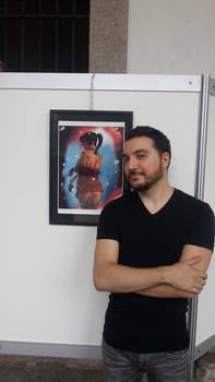 Me at New Game Designer exhibition