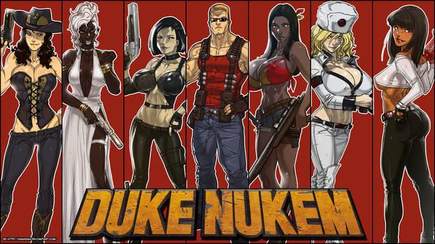 Duke and Nukem Girls wallpaper