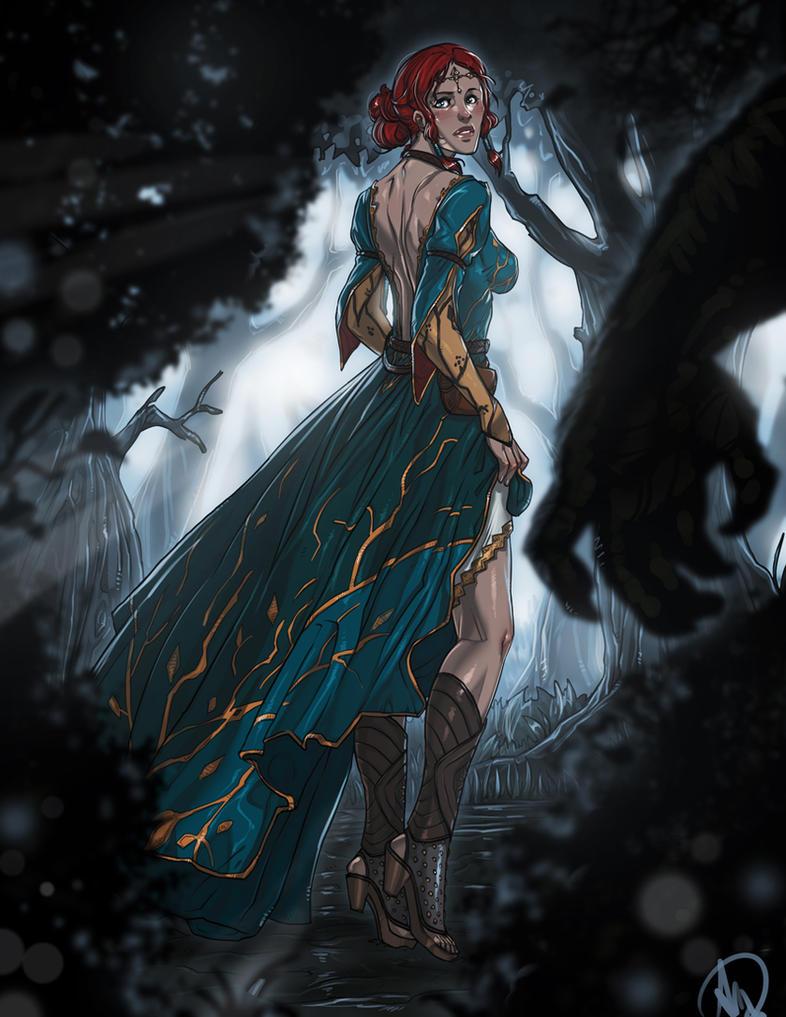 Witcher 3 - Triss in the forest by Ganassa