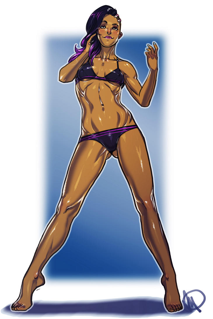 Overwatch Swimsuit - Sombra by Ganassa
