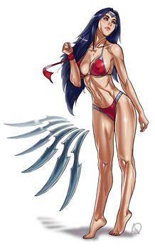 LOL Swimsuit - Irelia re-re-worked