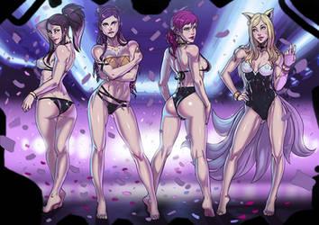 K/DA POP/STARS swimsuit version commission by Ganassa