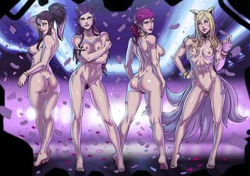K/DA POP/STARS nude version commission by Ganassa