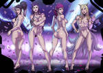 K/DA POP/STARS nude version commission by Ganassa