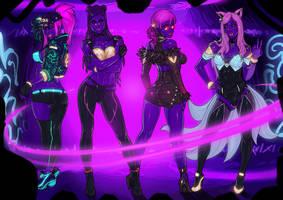 K/DA POP/STARS blacklight version commission