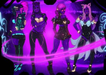 K/DA POP/STARS blacklight version commission by Ganassa