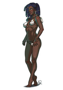Senna The Redeemer Swimsuit fan art
