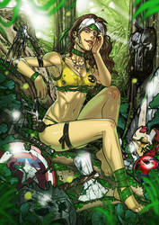 Evil Savage Land Rogue commission