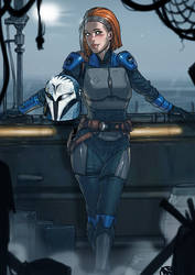 Bo-Katan commission helmetless version