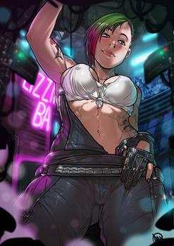 Judy Alvarez Cyberpunk 2077 commission