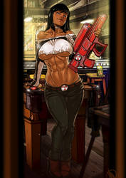 Barbara Boom boom in Gun Crazy Commission