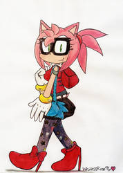 Amy in Glasses by WhiteXRose96