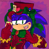 Sonic the Mad Hatter by WhiteXRose96
