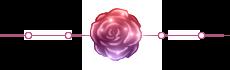 Rose Divider - Night Rose 1 - Large - Sparkles