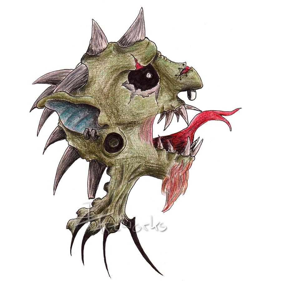 Demon Head. by KreativesVakuum