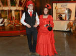 Steampunk couple by AdnaeInviere