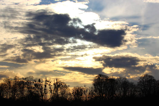 Sky on Maschsee, Germany