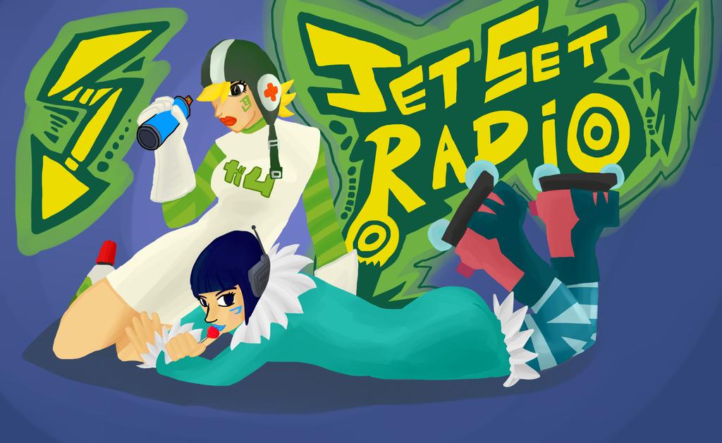 Jet Set Radio : Gum + Mew by VexNet