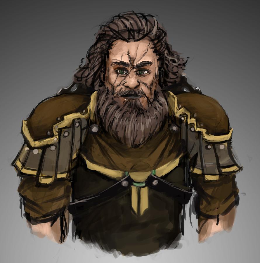Portrait - Warrior 1 by HARuNIS