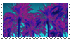 palm trees aesthetic stamp