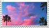 palm trees / sunset aesthetic stamp by goredoq