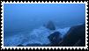 blue ocean aesthetic stamp