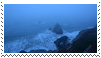 blue ocean aesthetic stamp by goredoq