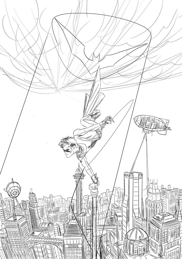 gotham city coloring pages - robin gotham city by patoftherick on deviantart