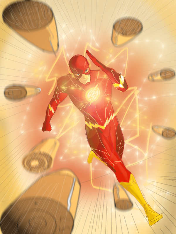 The Flash en 3D dans 3D the_flash_by_patoftherick-d6enbn3