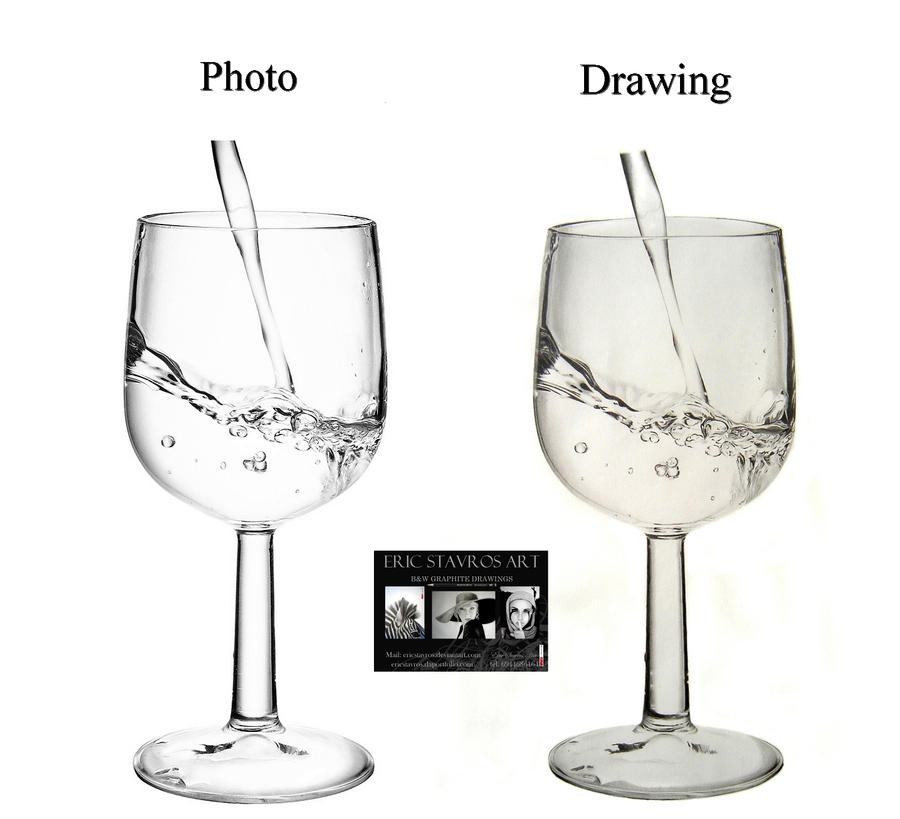 how to draw transparent glass sai