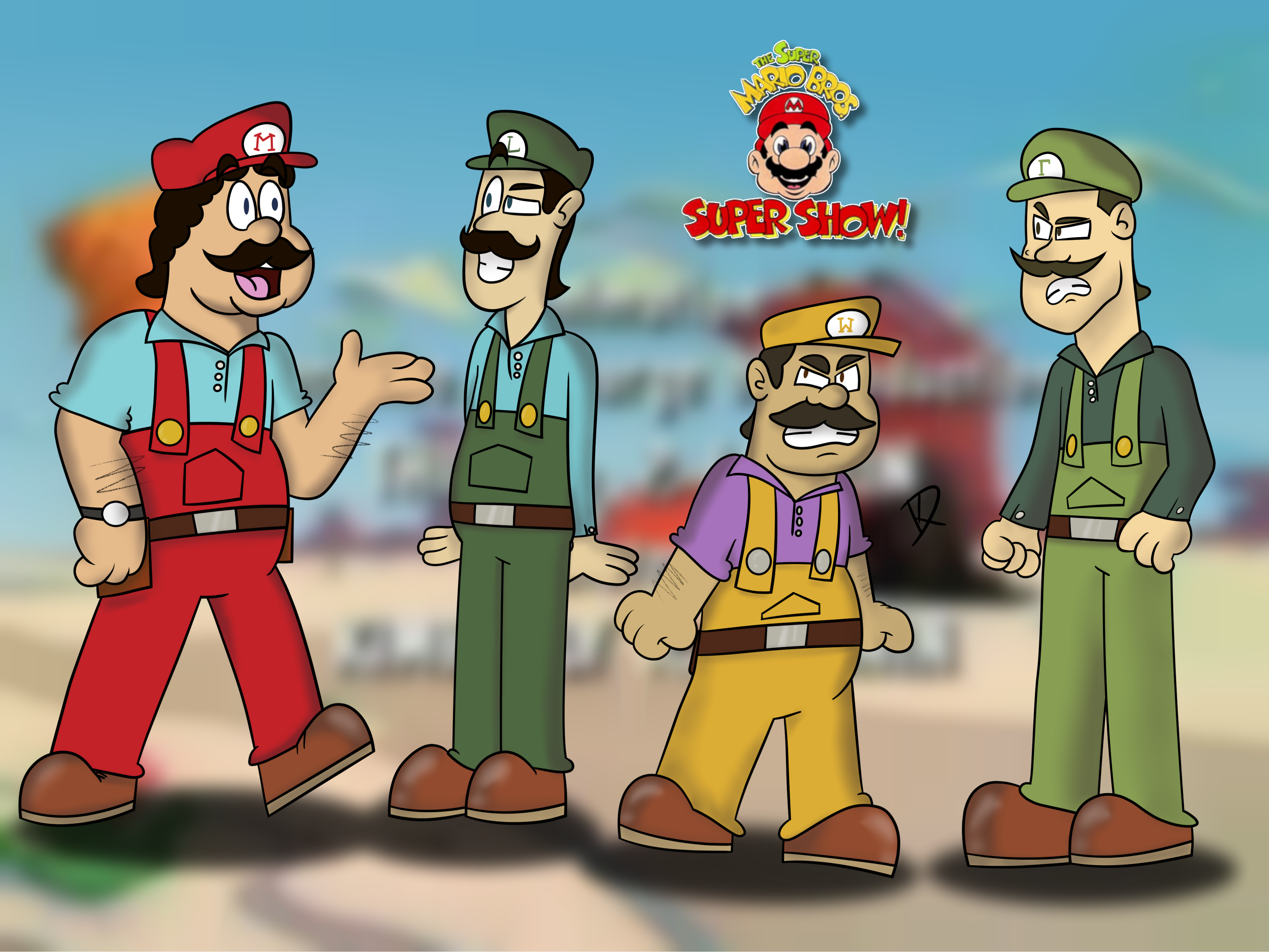 Super Mario Brothers Super Show Live Action By Itsamewario48 On
