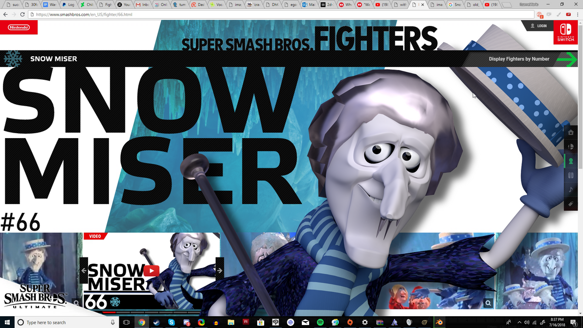 Snow Miser For Smash by ItsameWario48
