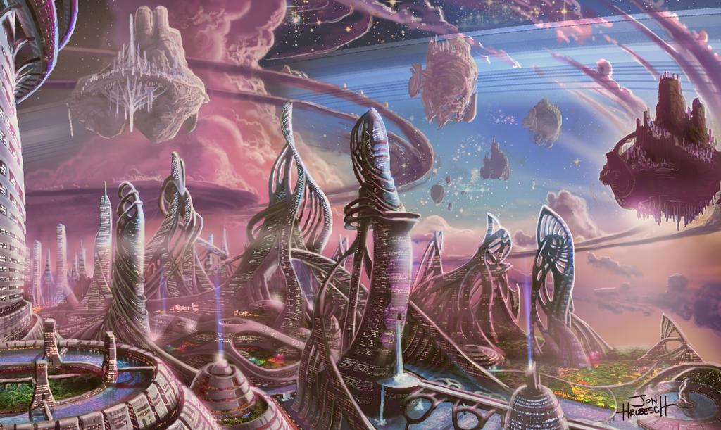 Saturn Scenery Concept art #2 by Mymy-TaDa