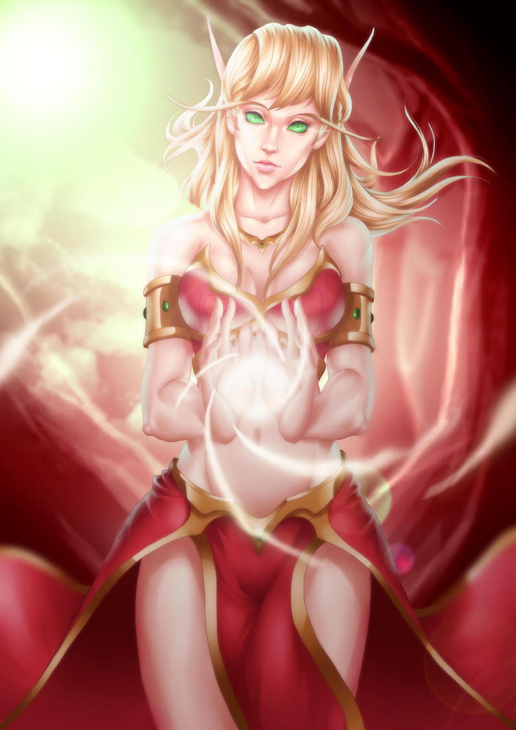 Blood elf greeting porn photo