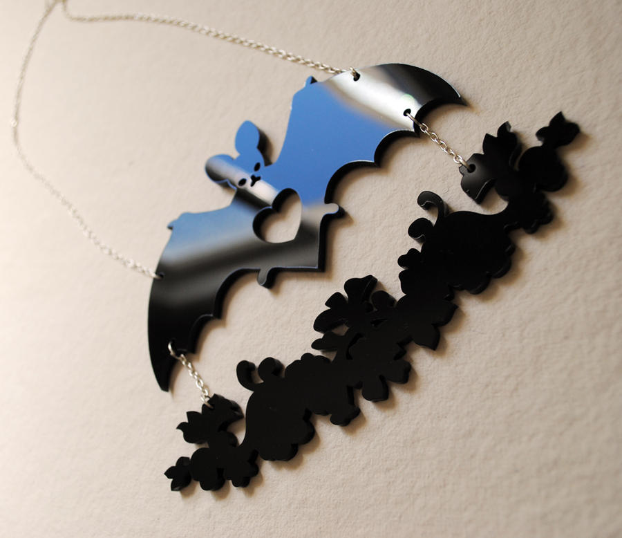 Bat Garland Laser Cut Necklace by nellmckellar
