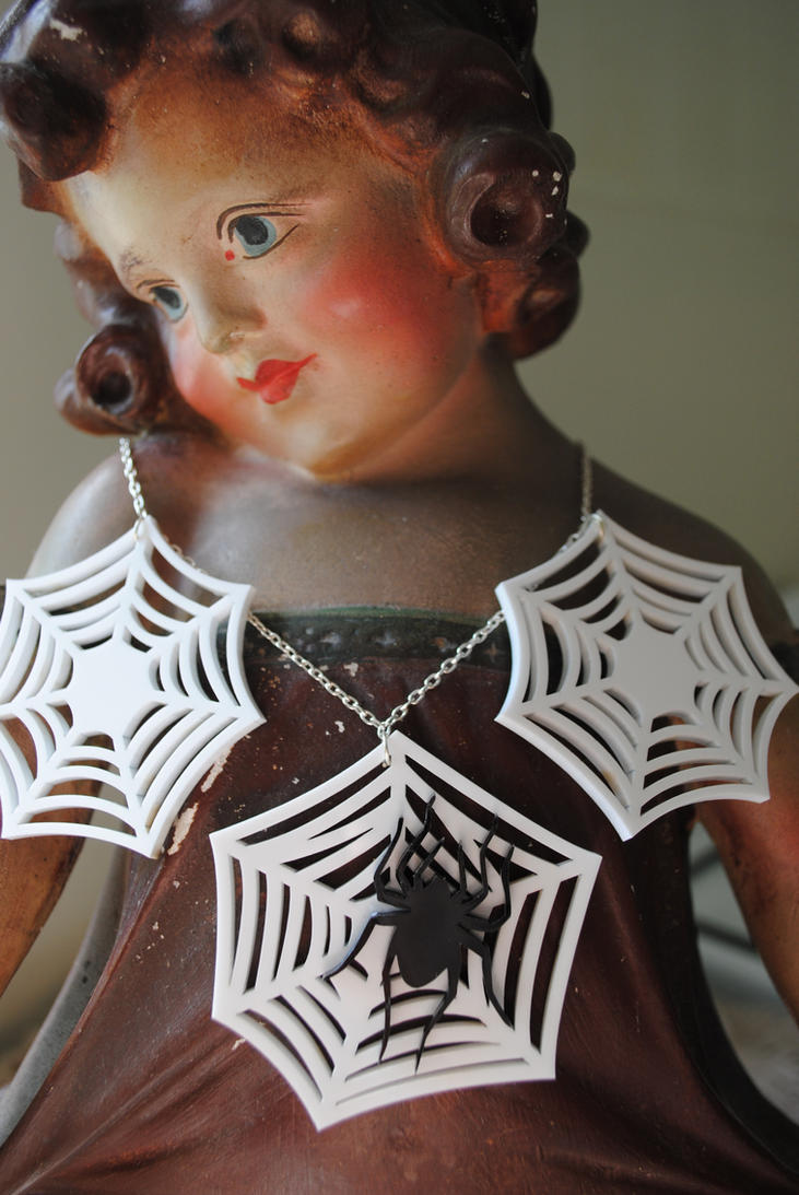 Spider Webs Necklace by nellmckellar