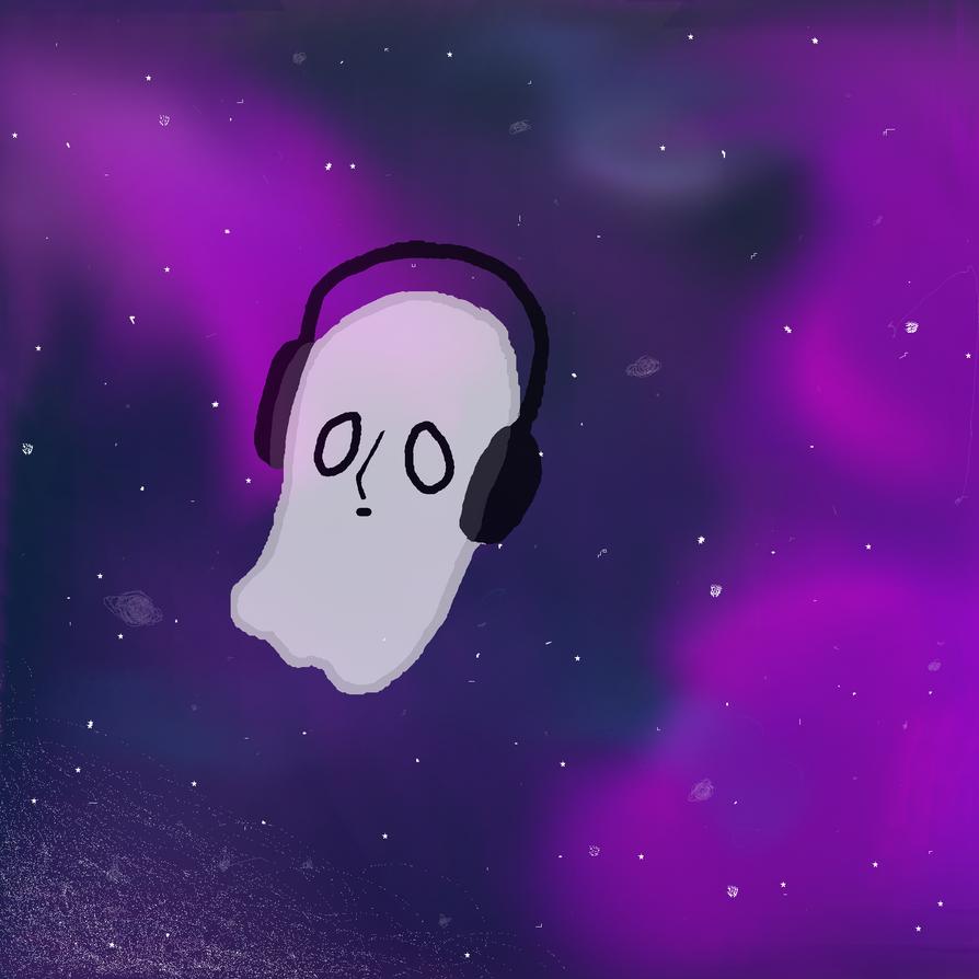Blooky in galaxy by Kadome