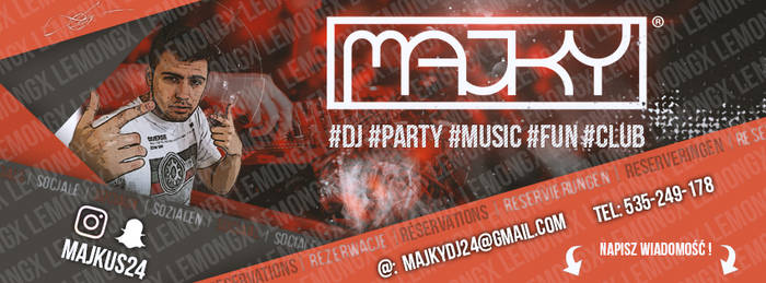 MajkY DJ - FB Bacground by L3M3N